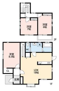3LDK、全居室収納付きでゆとりのある暮らしが実現。洋室が3部屋あるので、お子様が大きくなっても安心ですね^^