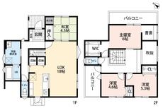 6帖の主寝室には収納に便利なウォークインクローゼットと、テレワークで大活躍の書斎付き^^