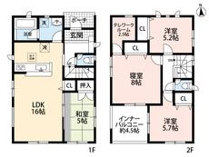 約4.5帖のインナーバルコニーに、2.5帖のテレワークルーム付き。各居室に収納が付いてます。