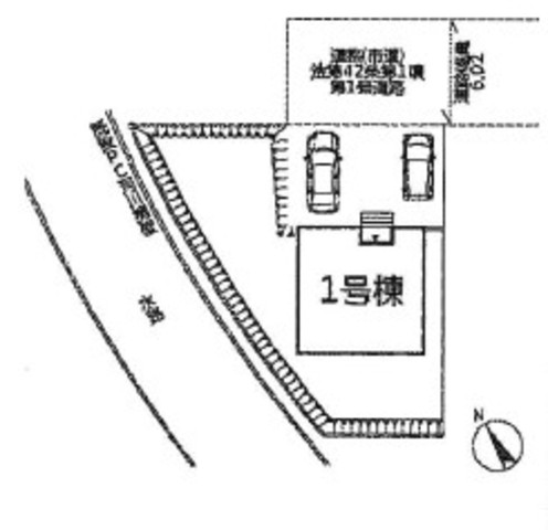 駐車スペース2台分あります^^