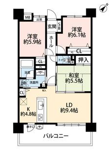 全居室収納付き、LDKは広々14帖以上あります^^