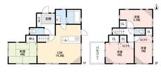ロフト付きの洋室が2部屋付いてます^^大きな荷物も置けて便利ですね。対面式キッチンとリビング階段で家族の距離が縮まる間取り。
