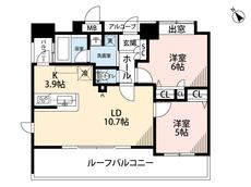 2LDK。5帖と6帖の洋室が付いてます^^ペットと暮らせるマンションです。
