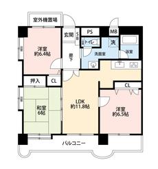 全居室6帖以上の3LDKの間取りでゆとりのある暮らしを^^2021年1月室内改装済み。