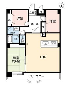 各室にしっかりと収納があるので棚を置かずにすみお部屋が広くお使いいただけます^^広々としたリビングにも注目。