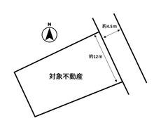 約69坪のゆったり区画^^ 敷地はがけ部分を含みます。