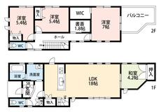LDKと和室を合わせると22.2帖の大空間となります。内覧も出来ますのでお気軽にお問い合わせください。
