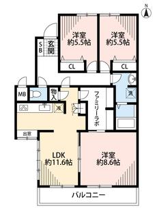 リビングは隣にある洋室を合わせると20帖以上の開放感あふれる空間です。