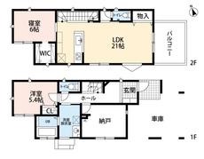 3号棟・2SLDK、¥3300万円土地面積101.70㎡建物面積107.60㎡