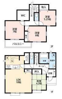 全居室収納スペース付き。