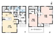 珍しい2LDKとなっています。13帖ある洋室があるので開放感のある寝室としても利用できます。SICやWICもあるので収納にも困りません^^