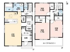 カウンターキッチンなので家族との会話も弾みますね^^2階の洋室には収納完備、ウォークインクローゼットもあるので収納が充実しています。