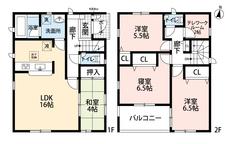 LDKと和室を合わせると20帖の大空間となります。2階には在宅勤務の際に便利なテレワークルームがあります^^各室収納で収納場所も安心です。