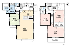 LDKと和室を合わせると24.25帖の大空間となります。2階は洋室が3部屋あるので、お子様が大きくなっても安心ですね^^