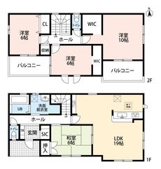 LDKと和室を合わせると25帖の大空間となります。カウンターキッチンなので家族のコミュニケーションも増えそうですね^^