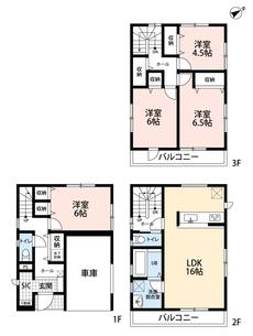 車庫付き住宅です^^SICがあるので玄関収納も充実。各居室収納完備なのでお部屋が広く使えますね。