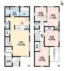 家族と顔を合わせる機会が増える、リビング階段です^^リビングや洗面脱室には便利な収納があります。