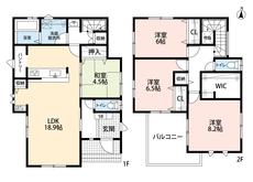 18帖以上の広々LDKが魅力です。2階は全居室6帖以上です^^