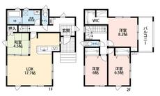 2階は全室6帖以上です^^ゆとりのあるプライベートスペースを確保できますね^^
