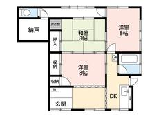 生活がワンフロアで完結する平屋をお探しの方におススメです。全居室8帖と広々^^納戸も魅力的^^