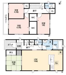 16帖のLDKは隣接する和室とあわせると21帖の広々とした空間になります^^