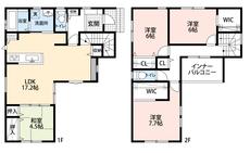 17.2帖のLDKは隣接する和室とあわせると21帖以上の広々とした空間になります^^