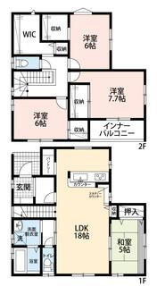 18帖のLDKは隣接する和室とあわせると23帖以上の広々とした空間になります^^