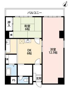 広い洋室が使いやすそうな間取りです。事務所としての利用ができるのも物件のポイントです。