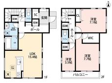 各居室の収納や、1・2階ホール部分にも収納を設けており、お部屋をすっきり保てますね^^オールフローリングをお探しのお客様にも^^