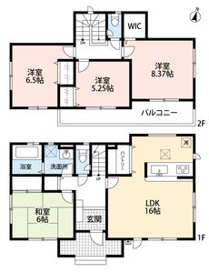 限定1棟のオール電化住宅。全居室南向きでお庭付き。独立型和室や大型のパントリーなど、うれしい設備が満載です。