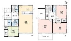 4LDKとウォークインクローゼットでゆとりのある暮らしが実現。リビングは隣にある和室を合わせると20帖以上の開放感あふれる空間です。