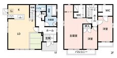 3LDKとウォークインクローゼットでゆとりのある暮らしが実現。リビングは22帖の開放感あふれる空間です。2階は洋室が3部屋、書斎もあるので、お子様が大きくなっても安心ですね^^