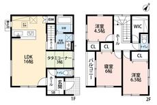 3LDKとウォークインクローゼットでゆとりのある暮らしが実現。リビングは16帖以上にタタミコーナーが併設された開放感あふれる空間です。2階は洋室が3部屋あるので、お子様が大きくなっても安心ですね^^