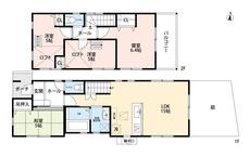 4LDKと2階にロフト付きでゆとりのある暮らしが実現。2階は洋室が3部屋あるので、お子様が大きくなっても安心ですね^^