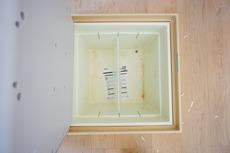 キッチンにある床下収納は居住スペースを減らさずに日用品のストックが収納可能^^