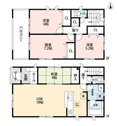 LDKと和室を合わせると22帖の大空間となります。 内覧も出来ますのでお気軽にお問い合わせください。