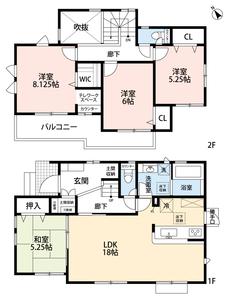 LDKと和室を合わせると23.25帖の大空間となります。2階には洋室が3部屋あるので、お子様が大きくなっても安心ですね^^内覧も出来ますのでお気軽にお問い合わせください^^