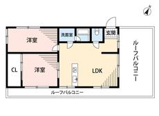 2LDKと広いバルコニーがある暮らし。バルコニーは7帖以上。最上階角部屋開放感あふれる空間です。 収納が付いていないお部屋もありますので、お好きな家具でコーディネイトを楽しめますね^^