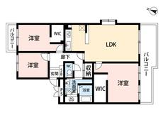 3LDKとウォークインクローゼット2ヵ所でゆとりのある暮らしが実現。リビングは18帖以上の開放感あふれる空間です。2面バルコニー^^