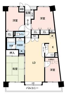 リフォーム済4LDK^^リビング横に和室があり、客間やお子様のお昼寝スペースに重宝します。独立して洋室が3部屋あるのでお子様が大きくなっても安心ですね。