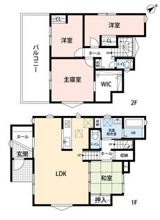 リビングは20帖以上の開放感あふれる空間です。2階は洋室が3部屋あるので、お子様が大きくなっても安心ですね^^