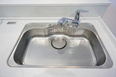 同仕様写真。浄水器内蔵のハンドシャワー水栓です。簡単操作でお湯や水の無駄をカットします。