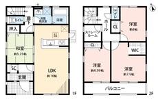 2階の広々ワイドバルコニーは、洗濯物干しの他に家庭菜園やテーブルセットを設置して寛ぎスペースにすることも出来ます。